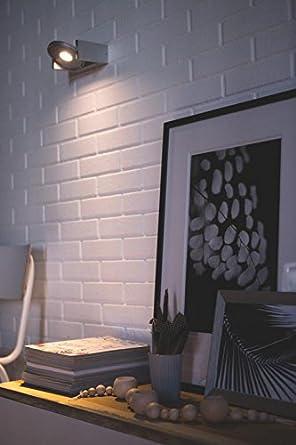 Philips Ledino Particon LED color gris 1 x 4.5 W 220 V Aplique con 1 foco