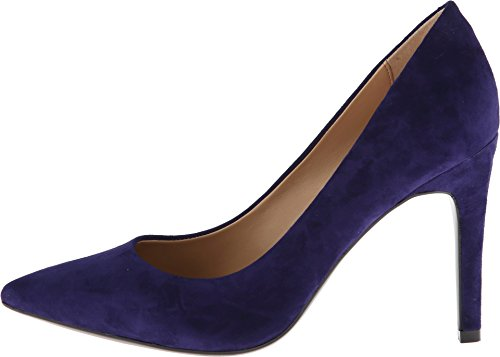 Isaac Mizrahi New York Women's Lamis Dark Blue Suede Pump 8.5 B (M)