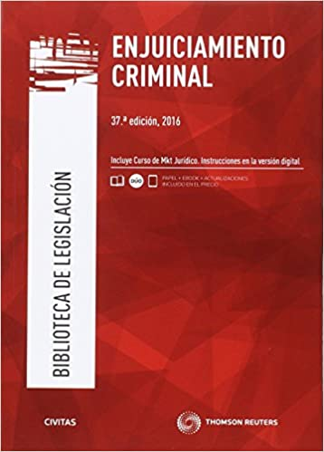 Enjuiciamiento Criminal (37 Ed. - 2016) Descargar Epub Ahora
