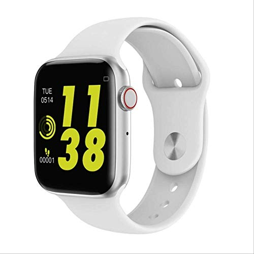 Smart Watch, Men Women Heart Rate Monitor Call Message Reminder for Android Apple Smartwatch White