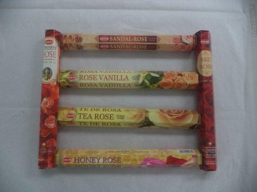 Hem Rose Collection Set 120 Incense Sticks 6 x 20 Stick Rose Flower