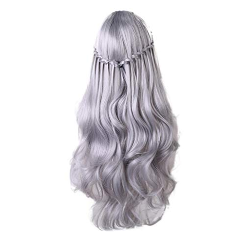 Wig Fashion Diy Natural Wave Wig Female Bangs Heat-Resistant Black Cosplay Party Wig
