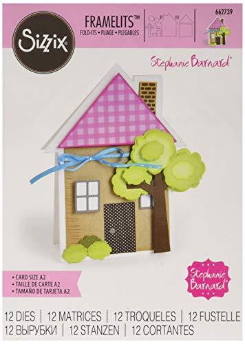 Sizzix Framelits Die Set 12PK - 662739 House Fold-its by Stephanie Barnard ()