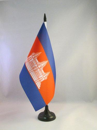 AZ FLAG Drapeau DE Table Cambodge 21x14cm - Petit Drapeaux DE Bureau CAMBODGIEN 14 x 21 cm