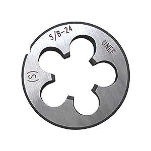 S-Union New 5/8-24 UNEF Tap and Die Set, UNEF Machine Thread Right Hand Tap and UNEF Round Thread Die (Color: 5/8-24)