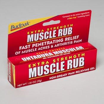 Budpak Extra Strength Muscle Rub - 1.25 oz. Tube, Pack of - Strength Rub Muscle