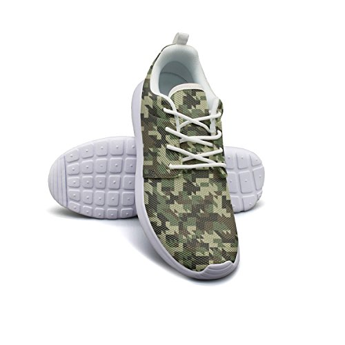 ERSER Military Digital Camouflage Green Mens Athletic Running Shoes Sport Tennis Shoes 8 (All Terrain Digital Camo)
