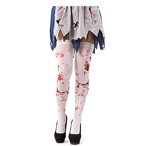 Clearance Sale!UMFun Skeleton Bone Foot Bloody Halloween Over The Knee Costume High Stockings Socks -