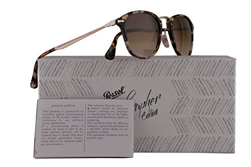 Persol PO3165S Calligrapher Edition Sunglasses Azure Brown Havana w/Brown Gradient Lens 50mm 105851 PO 3165-S PO3165-S PO - Cheap Sunglasses Persol