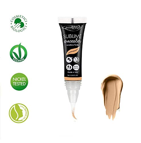 PuroBIO Certified Organic Long-Lasting Anti-Aging SUBLIME Concealer and Contouring Color 04 Medium-Tan. With Argan…