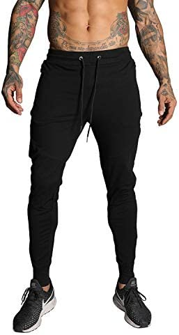 FIRSTGYM Mens Joggers Sweatpants Slim Fit Athletic Workout Pants