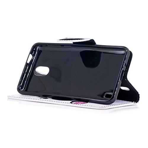 cuir protection Hozor fente Butterfly Nokia d'impression support portefeuille Flip avec cas pour en en 2 fermeture avec magnétique aérosol carte peint PU étui conception dance de qrPRwUxq