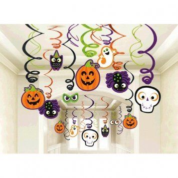 Amscan Creepy Halloween Creatures Hanging Decoration | 60 Count | Great as Trick-or-Treat and Horror House Ceiling Decor