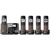 Panasonic KX-TGF375M DECT 5-Handset Landline Telephone (Certified Refurbished)