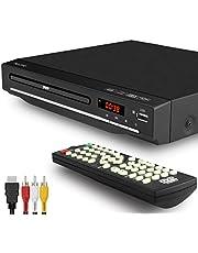 DVD-speler voor tv, dvd-speler met meerdere regio's, USB-aansluiting, afstandsbediening, DivX, HDMI-aansluiting (niet Blu-ray), zwart