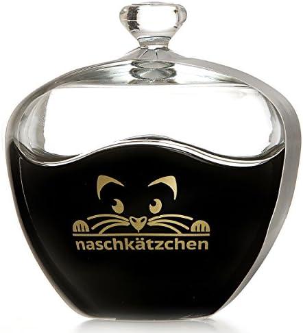 Ritzenhoff & Breker Flirt Bonboniere, Dose, Bonbondose, Keksdose, Motiv: Naschkätzchen, Schwarz / Gold, 686654