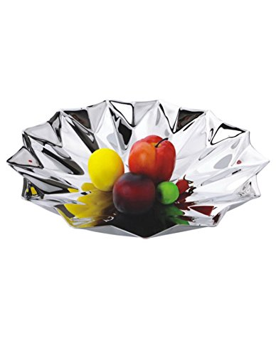 iecool European Stainless Steel KTV Fruit Plate Silver D395H75mm by iecool