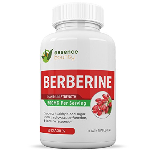 Berberine Capsules – Max Strength Formula – Natural Ingredients – Promotes Healthy Sugar Levels & Cardiovascular Health – One Month Supply – Essence Bounty Review