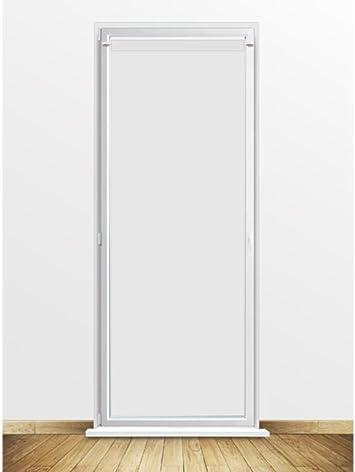 Soleil docre Visillo para Puerta acristalada 90x200 cm Dolly Blanco: Amazon.es: Hogar