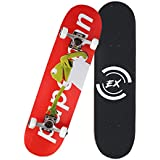 "Skateboard 31"" X 8"" Standard Skateboards Cruiser Complete Canadian Maple 8 Layers Double Kick Concave Skate Boards"