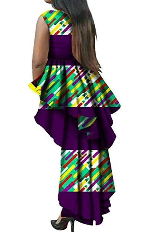 Coolred Dashiki Elegant women Evening Exotic Party Dress Stitching Sleeveless qUr7wRqP