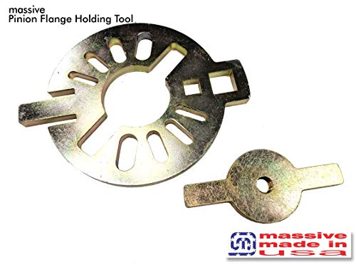 Massive Pinion Flange Holding Tool Holder Yoke Wrench Made USA Jeep Ring Rear End Axle Nut Seal 8.8 40 Dana 3/8