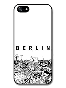 Cool Black and White Berlin City with Bear Illustrated Poster Case For Ipod Touch 5 Cover