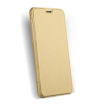 new concept 3b40a 7ac3e Premium Flip Cover for Motorola moto g4 plus - Gold: Amazon.in ...