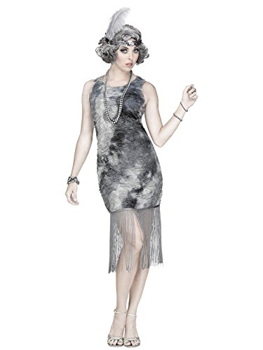 (Fun World Women's Ghostly Flapper Costume, Multi)