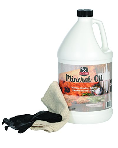 100% Pure Food Grade Mineral Oil - USP Certified and NSF Approved Butcher Block and Cutting Board Oil - 1 Gallon with Free Application Cloth and Gloves