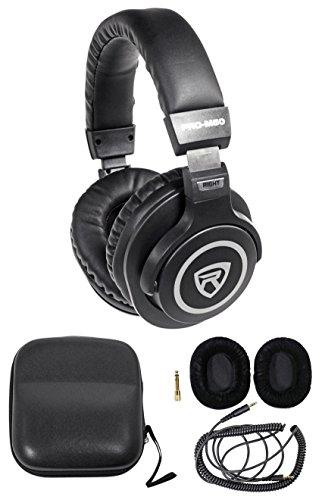Rockville PRO-M50 Studio Stereo Headphones+Detachable Cable+Case+Extra Ear Pad by Rockville