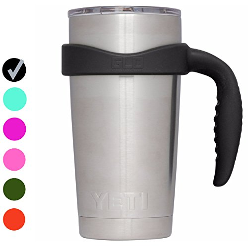 Grab Life Outdoors 20oz Tumbler Handle - Perfectly Fits 20 Oz YETI Rambler, Ozark Trail & Many More - Handle Only (Black)
