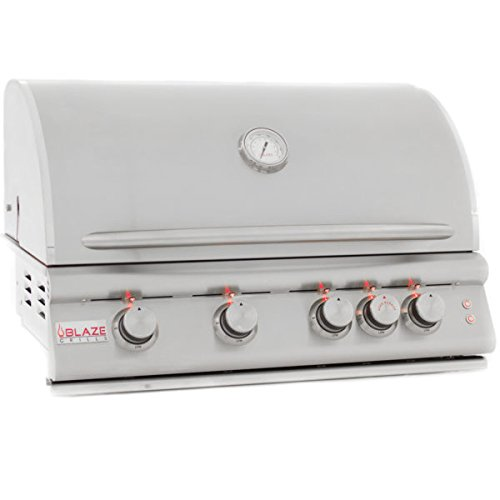 Blaze LTE 32-Inch 4-Burner Built-In Propane Gas Grill With Rear Infrared Burner & Grill Lights - BLZ-4LTE-LP Blaze Outdoor Products