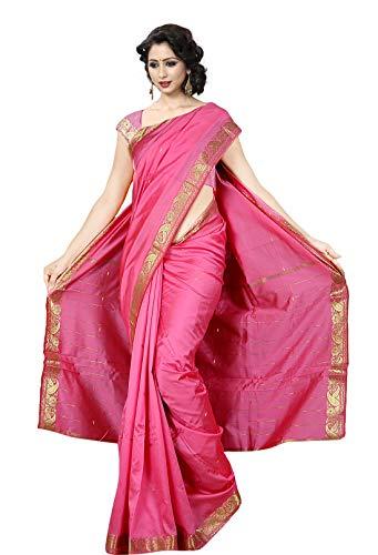 al Ethnic Women wear Art Silk Saree -Pink ()