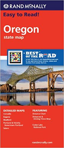 Rand McNally Easy To Read Oregon State Map Rand McNally - Rand macnally southwestern us road map