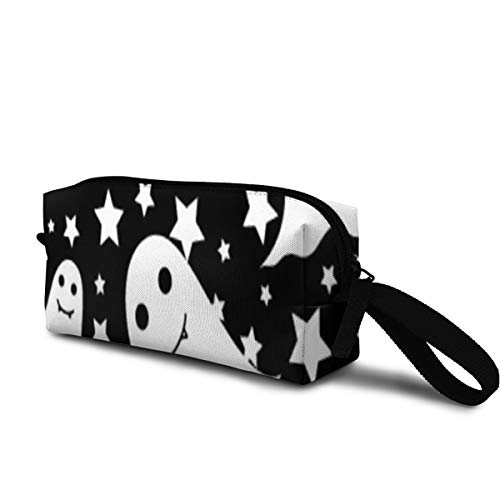 T-JH Stars Ghost Mini Makeup Bag,Portable Cosmetic Bag,Organizer,Toiletry Handbag,Sewing Kit,Storage Pouch for Women Purse