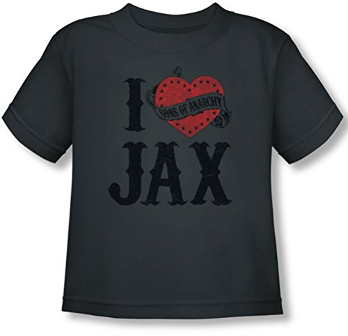 Sons Of Anarchy - Toddler I Heart Jax T-Shirt, 2T, Charcoal