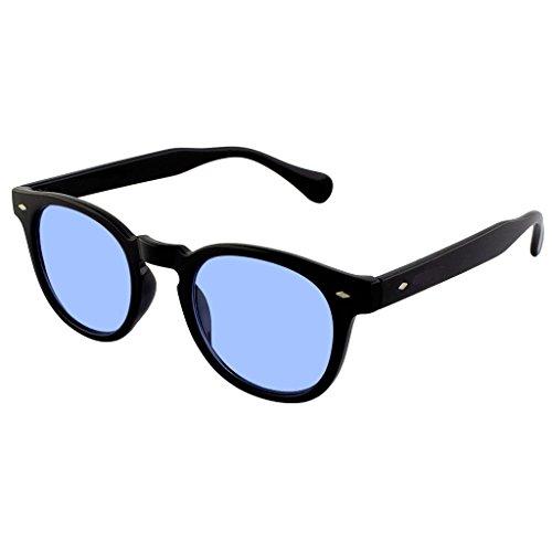 mod VENDIMIA estilo Depp Negro de de mujer CULTO unisex Gradiente el Gafas la Johnny hombre MOSCOT Humo sol Azul DEPP la de KISS® a de 7nYqI