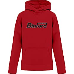 BSW YOUTH BinFord Tools Home Improvement Premium Hoodie MED Red