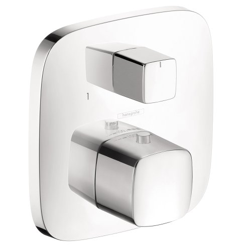 Hansgrohe 15771001 PuraVida Thermostatic Trim with Volume Control and Diverter, Chrome - Hansgrohe Trim Volume Control