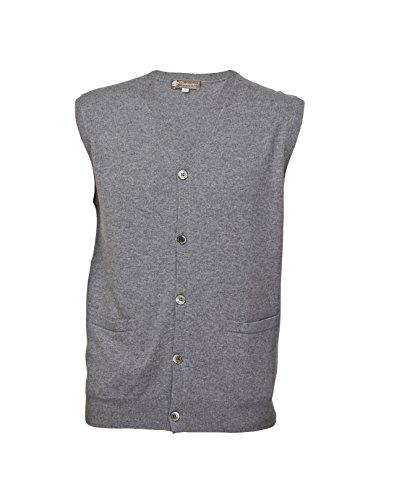 Mens Cashmere Sleeveless Cardigan Vest product image