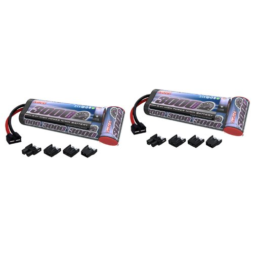 -Cell NiMH Battery Flat with Universal Plug (EC3/Deans/Traxxas/Tamiya) x2 Packs ()