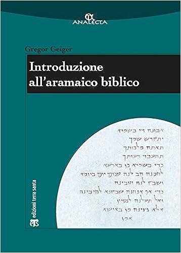 Introduzione All Aramaico Biblico Analecta Italian