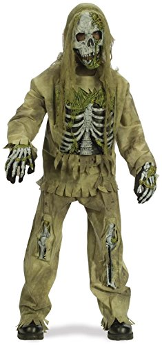 - Fun World 31857 Skeleton Zombie Child Costume- Size 4-6