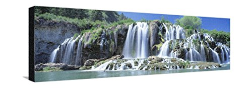 Idaho, Bonneville County, Tributary Waterfall on the Snake River Stretched Canvas Print by Panoramic Images - 36 x 12 in