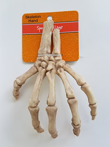 Spooky Village 8.5 Inch Bones Life Size Skeleton Hand Halloween Decoration by Spooky Village