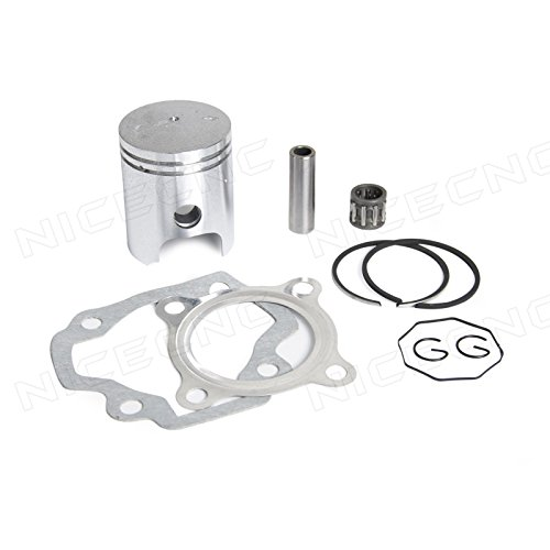 NICECNC Piston Ring Kit Gasket Wrist Pin Bearing Set for YAMAHA PW50 1979-2009 (Piston Pin Set)