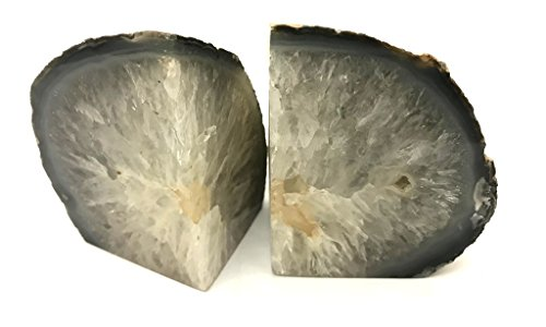 Zentron Crystal Collection Large Pair of Polished Natural Agate Bookends (2-6 Pounds) -