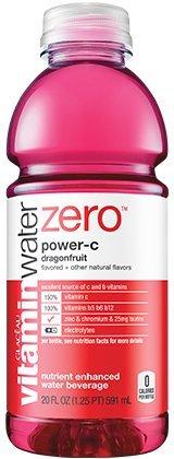 Vitamin Water Zero, Power-c, 20 Oz (Pack of 24)