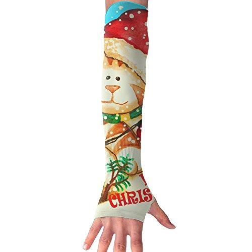 Wish You A Meowy Christmas Cooling Arm Sleeves Unisex Sun Block UV Protection International Fashion (Music 2017 Radio Stations Christmas)